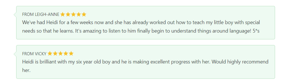 Feedback from first tutor